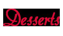 Desserts Entrées-word-1